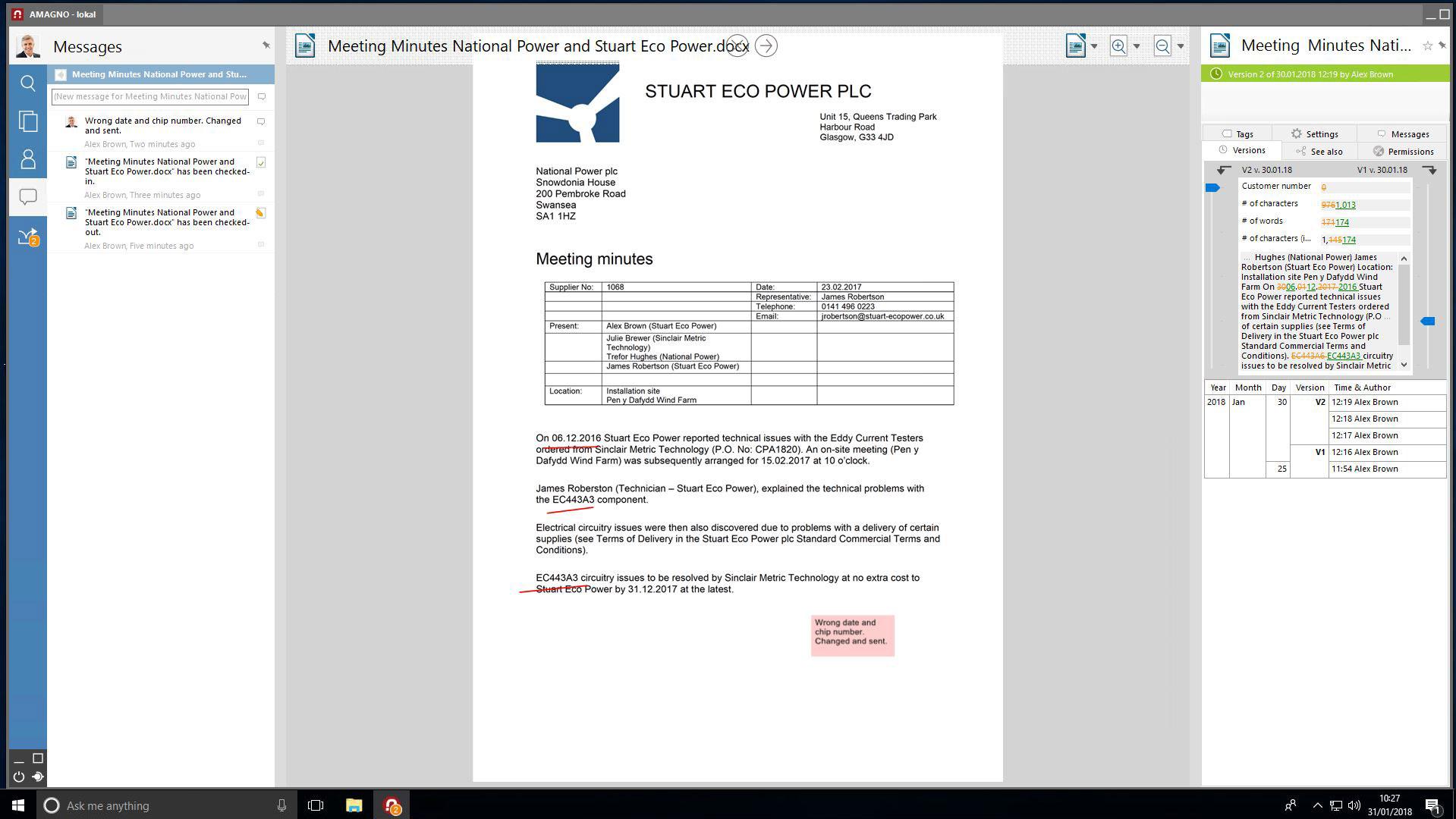 AMAGNO 5 Versions engl - Audit security with ECM