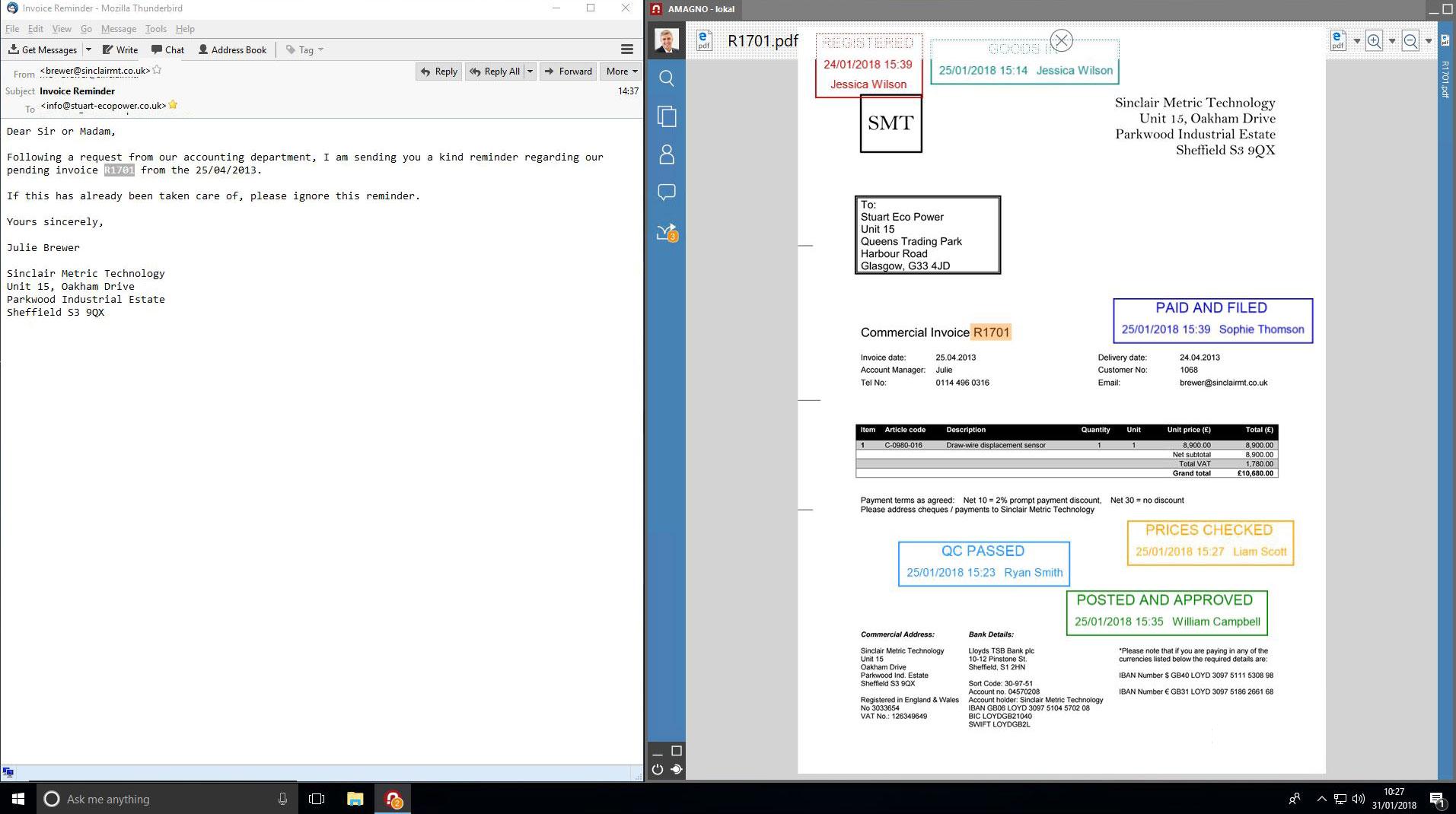 AMAGNO 5 Side by Side en - Email Archiving
