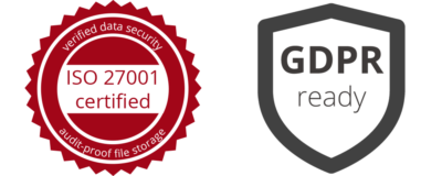 GoBD en GDPR Logos 400x160 - Audit security with ECM
